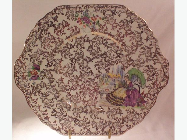 Gold chintz serving plate