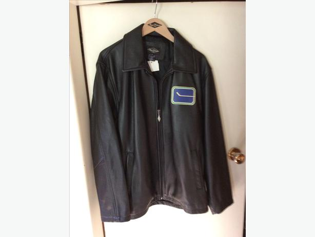 Vancouver Canucks vintage leather jacket