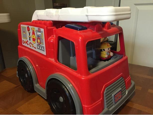 Mattel Mega Bloks Firetruck toy