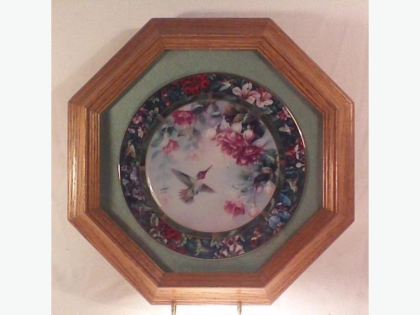 Lena Liu Anna's Hummingbird framed plate