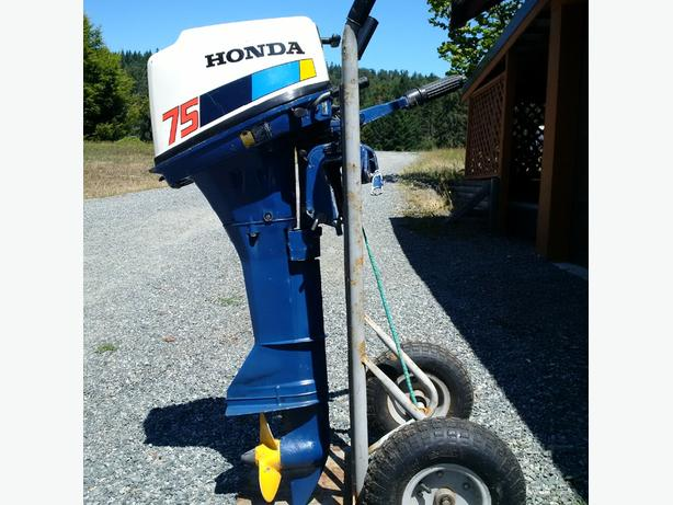80 39 s 4 stroke honda 7 5 hp outboard outside nanaimo for Honda 2 5 hp outboard motor