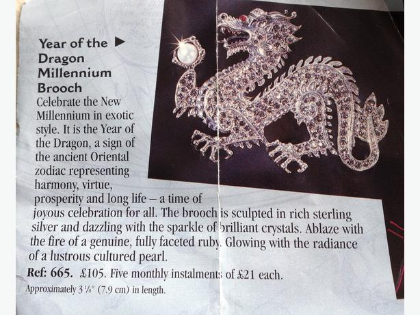 Dragon Brooch by The Franklin Mint