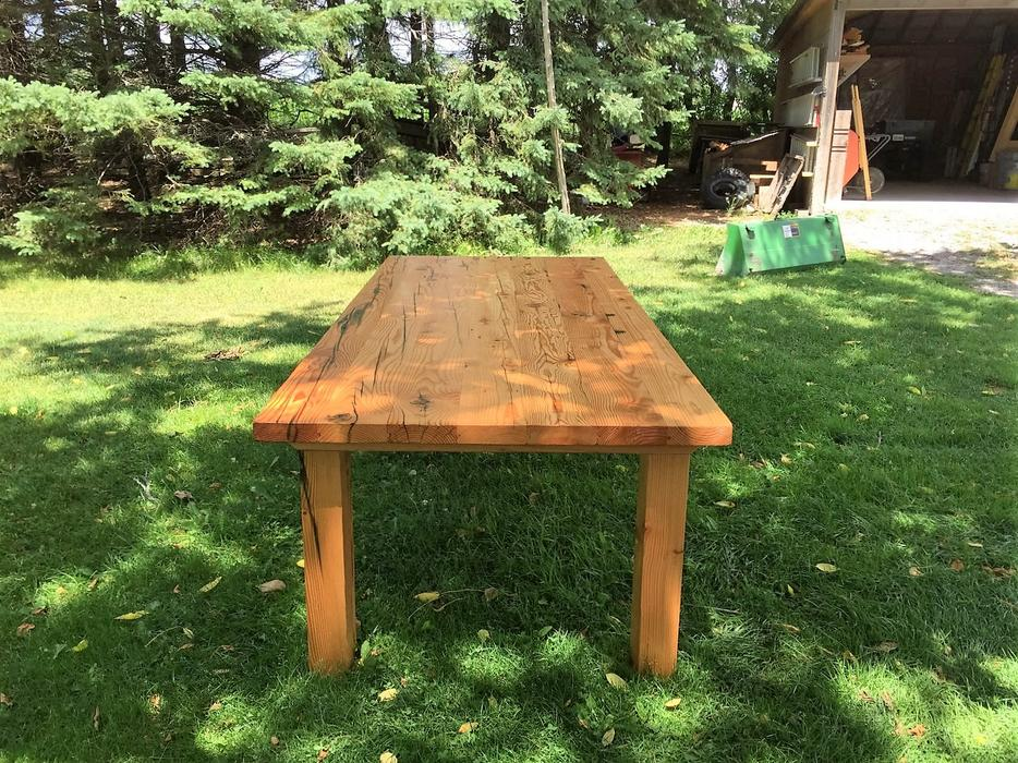 Custom dining table built from reclaimed barn beams YORK  : 54273080934 from www.usedtoronto.com size 934 x 700 jpeg 192kB
