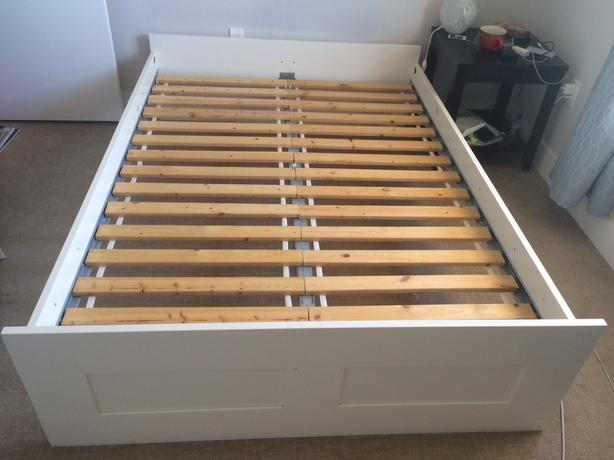 IKEA Double Bed Frame And Mattress