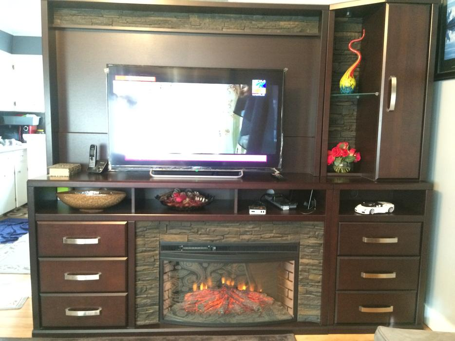 Wall Unit With Electric Fireplace 1500 West Regina