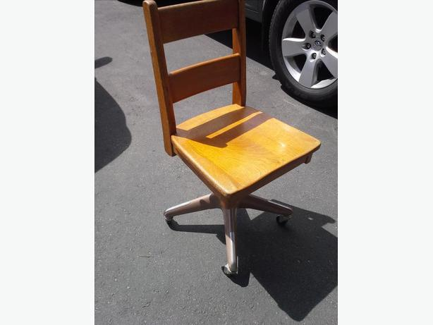 Vintage Oak Office adjustable Rocking Chair