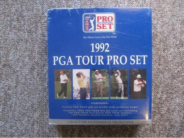 1992 PGA Pro Set Boxed Gift Set. 300 cards + binder & sheets. FACTORY SEALED
