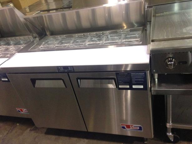 "US Ref 2 Door 48"" Sandwich/Salad Prep Cooler"