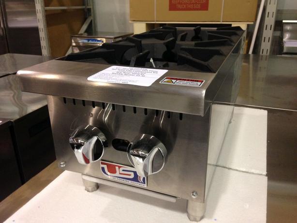 """US Cooking 12"""" 2 Burner Hot Plate"""