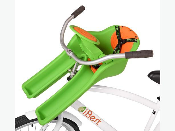 Ibert safe-T Seat with Steering Wheel, Green - bikeseat