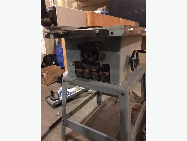 Delta 10 table saw campbell river comox valley for 10 table saw motor