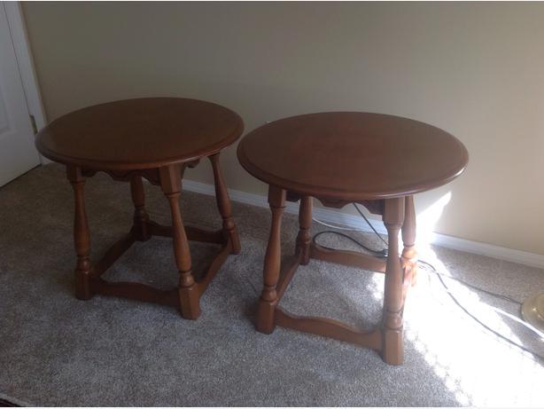 vilas maple round. tables