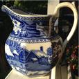 Antique Wedgwood octagonal pitcher in Fallow Deer pattern