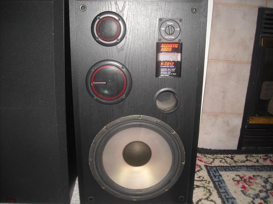 acoustic audio hcd12 speakers  eBay