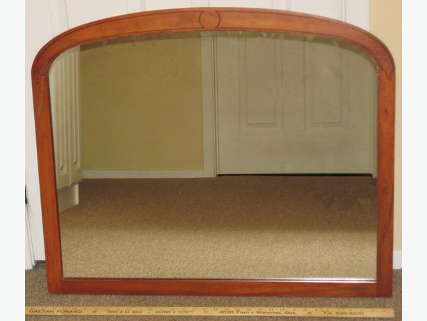 "Mirror 32"" x 27"" in Maple Frame"