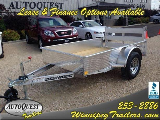 2017 Stronghaul 5 X 8 Solid Side Aluminum Utility Trailer