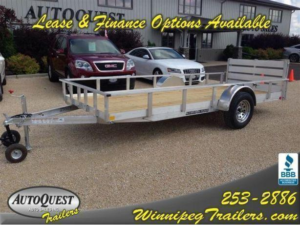"2016 Stronghaul 66"" X 14' Rail Side Aluminum Utility Trailer"
