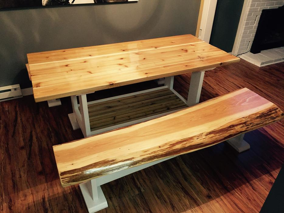 Kitchen dining table solid cedar Sooke Victoria MOBILE : 54315252934 from www.usedvictoria.com size 934 x 700 jpeg 88kB