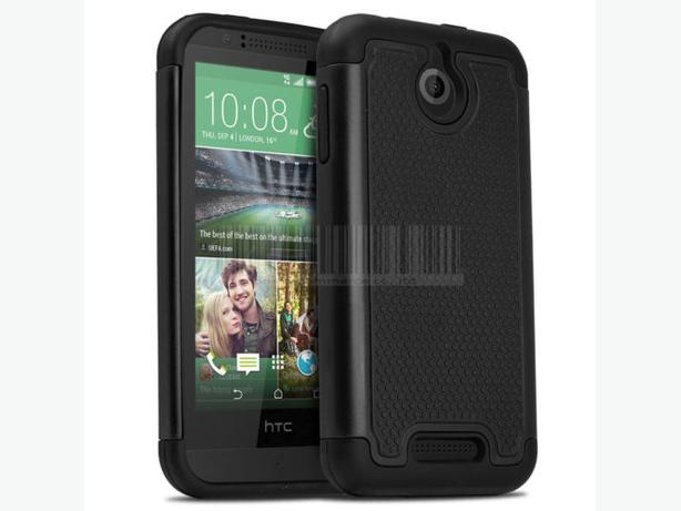 Heavy duty armor hybrid case for HTC Desire 510