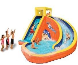 Used sidewinder inflatable slide from toys r us courtenay for Toys r us piscine