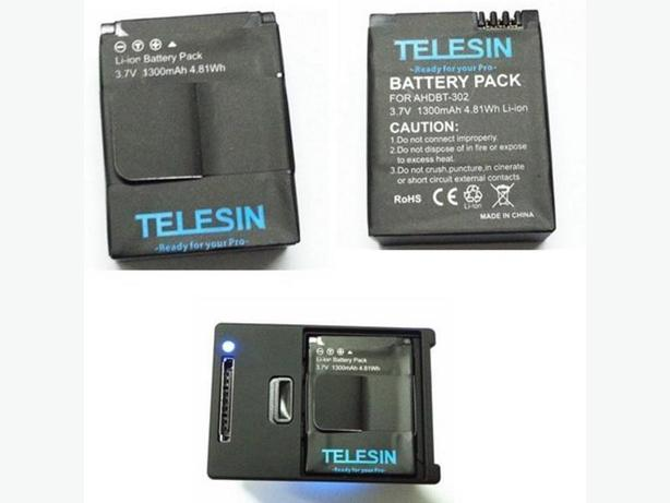 Telesin 1300mAh AHDBT-302 AHDBT302 Battery for Gopro Hero 2/3/3+