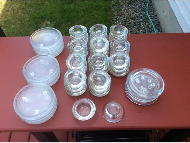clear glass candle holders for tea-lights & pillars