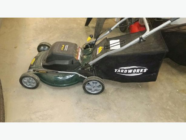 Yard works electric mower