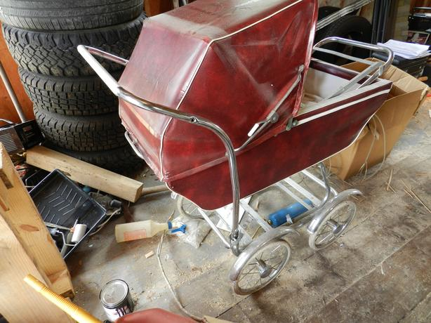 Old baby stroller