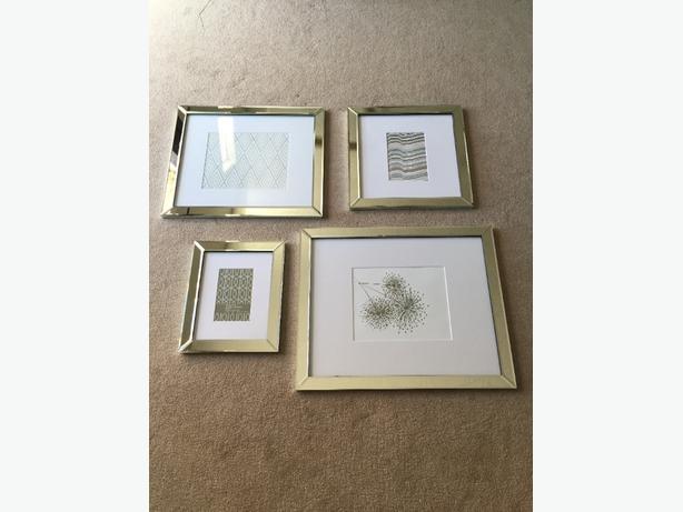 BRAND NEW 4-Piece Mirrored Frame Set Saanich, Victoria