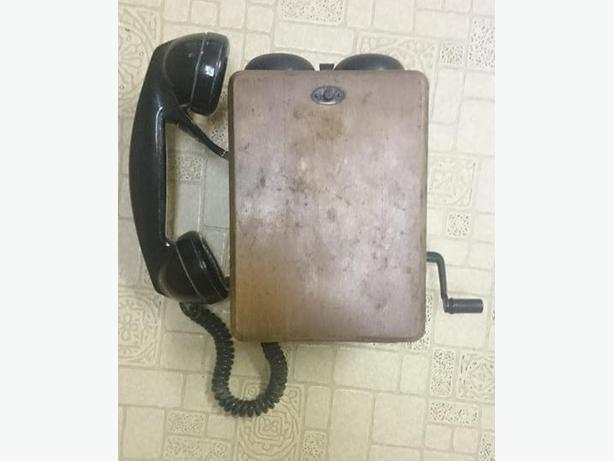 Antique railroad telephone