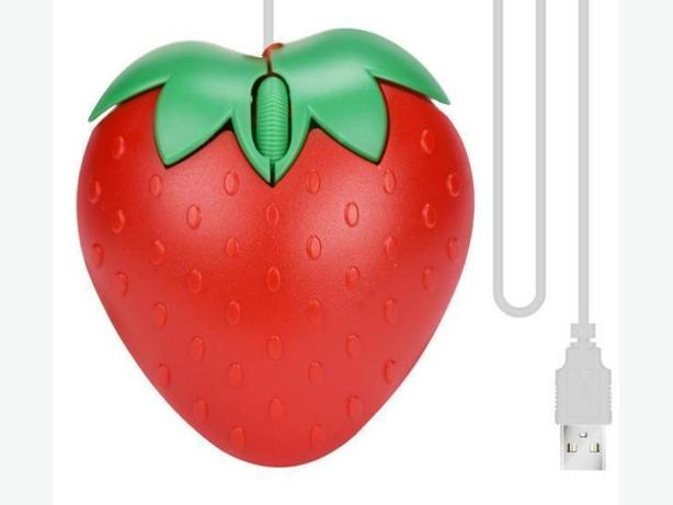USB 2.0 1600dpi Mouse Strawberry Pattern