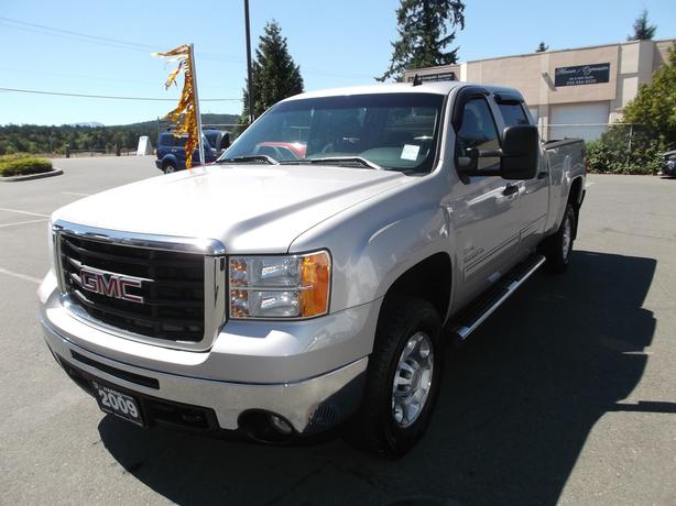 2009 gmc sierra 2500 crew cab diesel 4x4 for sale outside comox valley courtenay comox. Black Bedroom Furniture Sets. Home Design Ideas
