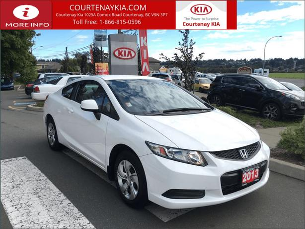 2013 Honda Civic LX Coupe | 1 Owner Low KM Island Vehicle