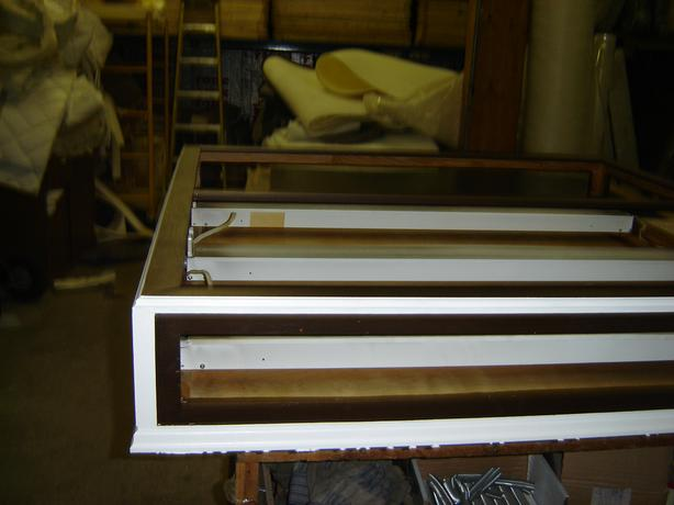 4x4 Oak light fixture for kitchen or office ceilling with four t 12 tubes