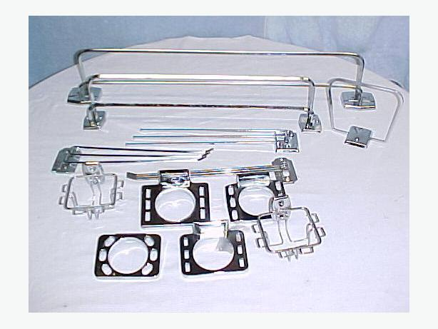 Misc Chrome Mid Century Accessories & Towel Bars $5.00 each