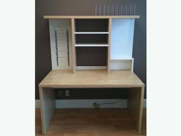 Ikea Mikael Desk with Add-on Shelf Unit