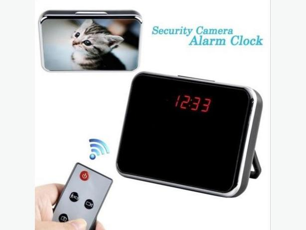 Motion Detect Hidden LED Mirror Clock Camera Camcorder Mini DVR