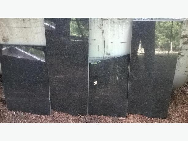 Black Granite Countertop Pieces