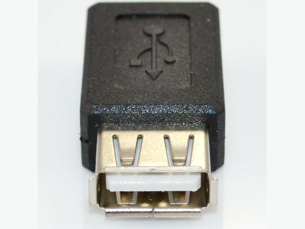 USB 2.0 A (F) to Mini USB B 5-Pin (F) cable Adapter Joiner Coupler