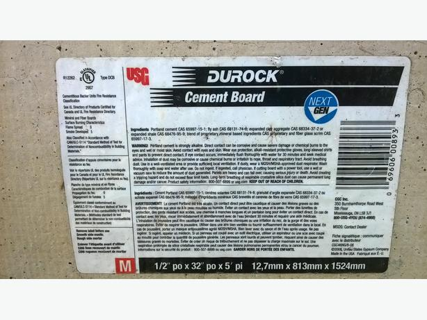 Durock Cement Board pieces