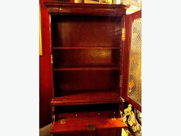 * Mahogany Display Cabinet– Visa, MCard, Delivery