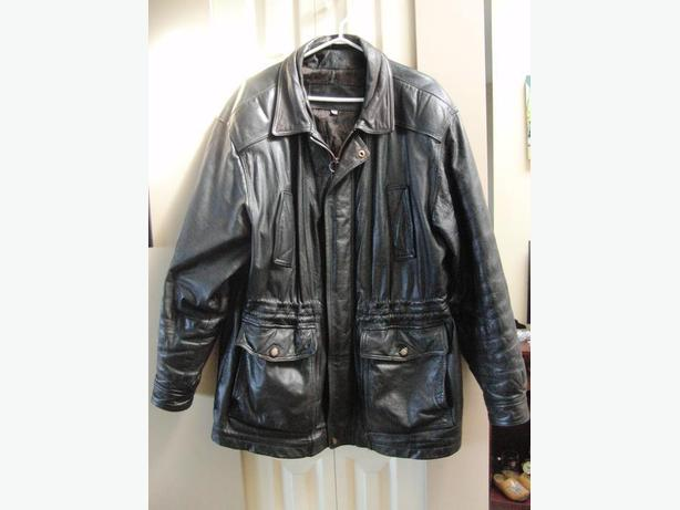 Mens' Christipher Rand Leather Coat (Size Large)