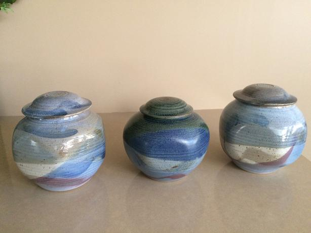 Ceramic artisan pots $25 each or 2 for $40 (3 for $55)