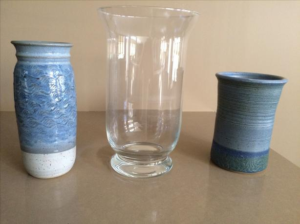 Glass/ceramic artisan vases $15 each or 2 for $20 (3 for $30)
