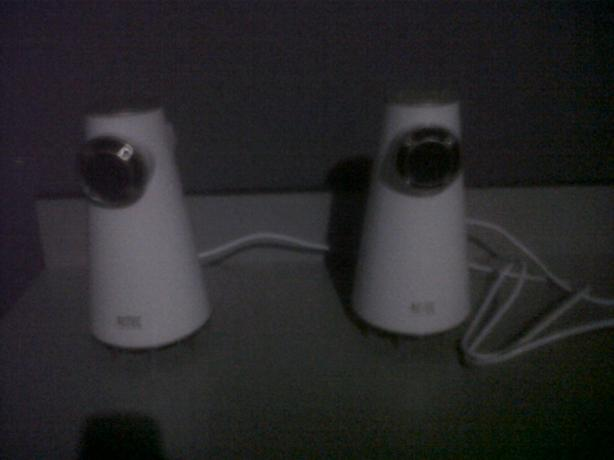 Speakers $25 white $10 black or both for $30