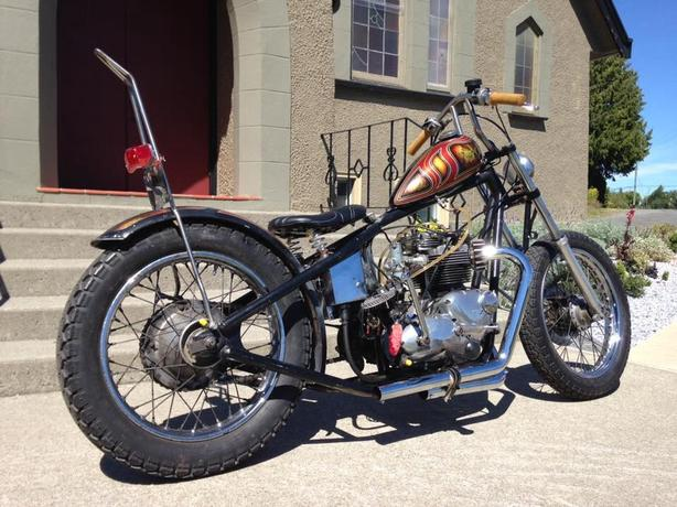 $$$  AWESOME 1973' TRIUMPH CHOPPER!  $$$