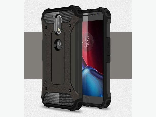 New Heavy Duty Rivet Armor Two Layer Case for Moto G4 Plus