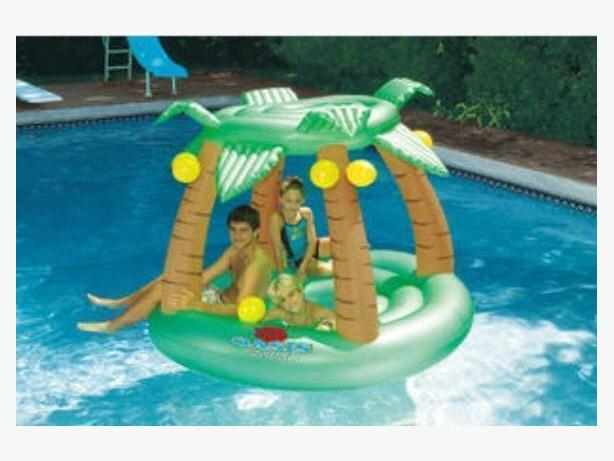 Swimline Oasis Island Inflatable Lounger -New