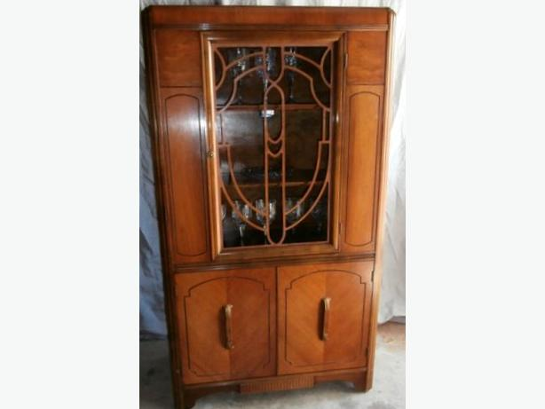 STUNNING ART DECO Waterfall China Cabinet Malahat (including ...