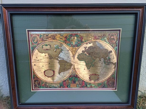 World Map from Bombay Stores with glass top